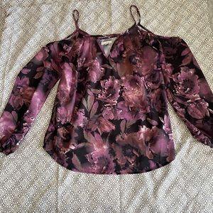 Wet Seal Cold Shoulder Floral Dress Top S